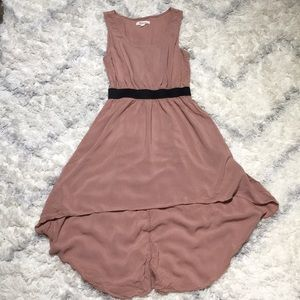 Dusty rose high low dress